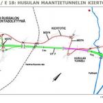 :PELASTUSHARJOITUKSET: Husulan tietunnelit suljetaan pelastusharjoituksen vuoksi 12.10.2021 klo 8.00-24.00